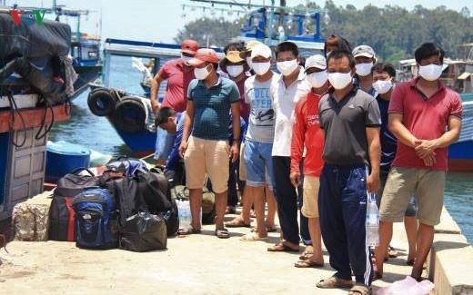 Fischer im Zentralvietnam protestieren gegen provokative Handlungen Chinas - ảnh 1