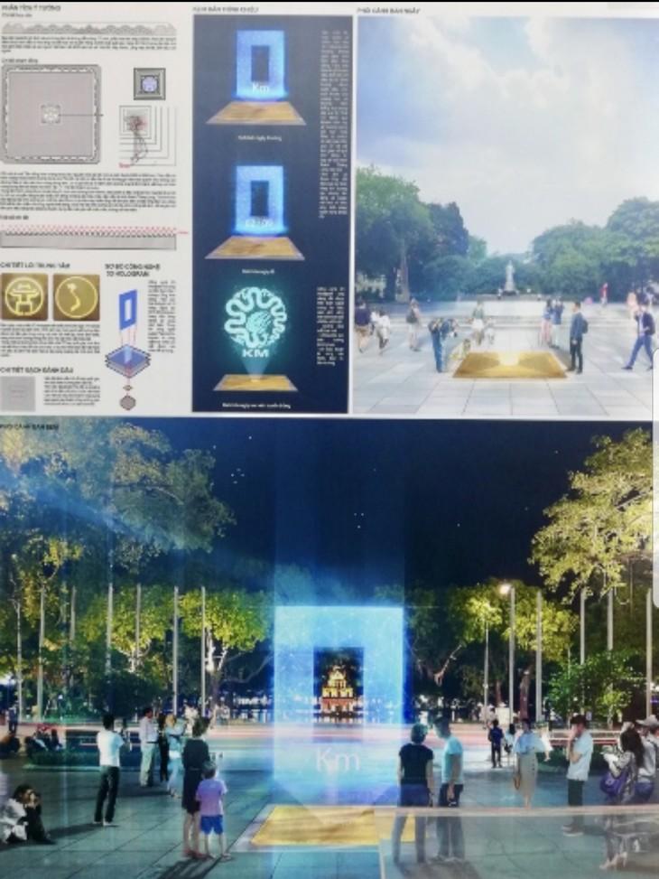 Entwurf des Meilensteins Km0 – ein künftiges Wahrzeichen der Hauptstadt Hanoi - ảnh 1