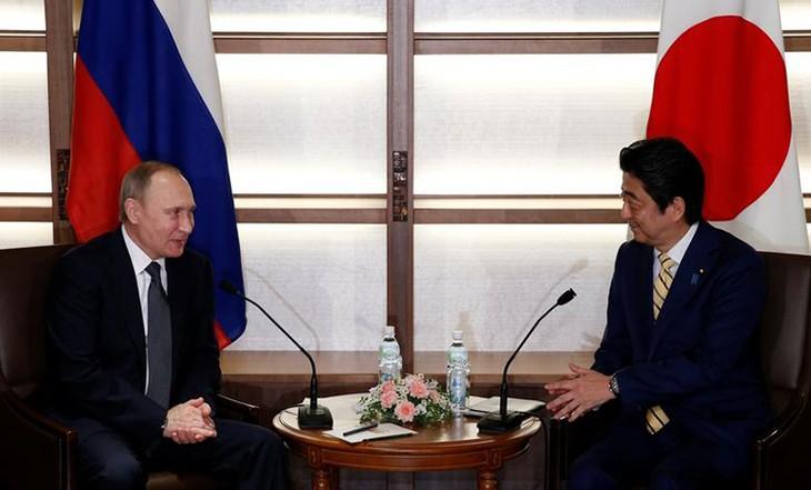 Japans Premierminister Abe Shinzo führt Telefongespräch mit Russlands Präsident Wladimir Putin - ảnh 1
