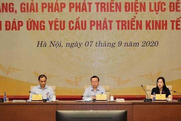 Erklärungssitzung über die Lage und Maßnahmen zur Entwicklung der Elektrizität bis 2030 - ảnh 1