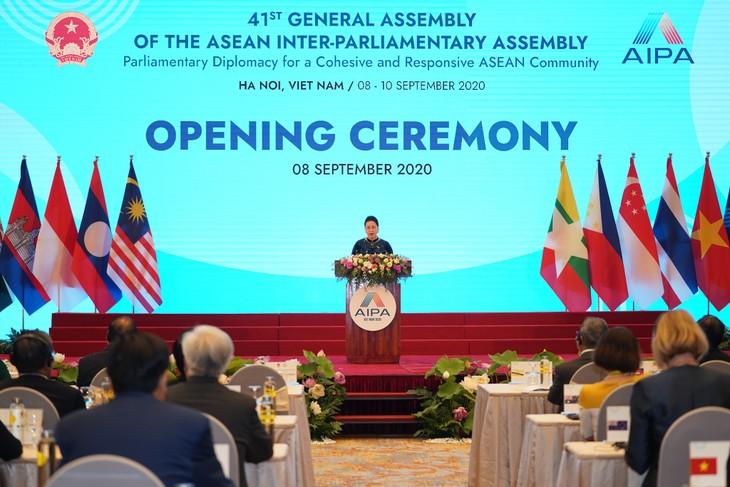 Eröffnung der interparlamentarischen Vollversammlung der ASEAN  - ảnh 1