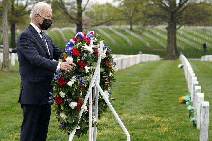 US-Präsident Biden kündigt Plan zum Abzug amerikanischer Truppen aus Afghanistan an - ảnh 1