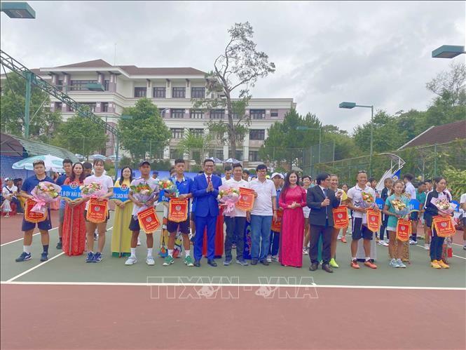 Eröffnung des nationalen Tennis-Turniers für Mannschaften 2021 - ảnh 1