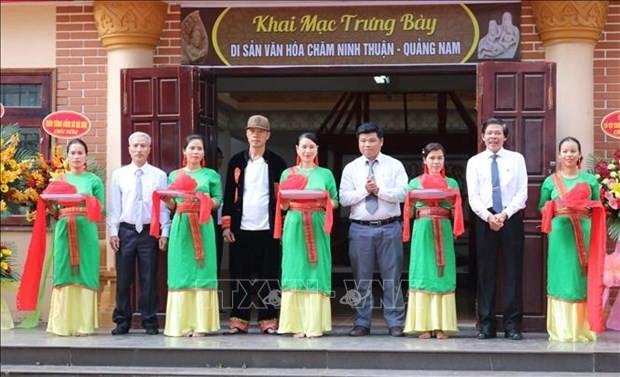 Ausstellung der Kultur der Volksgruppe Cham anlässlich des 46. Befreiungstags von Ninh Thuan - ảnh 1