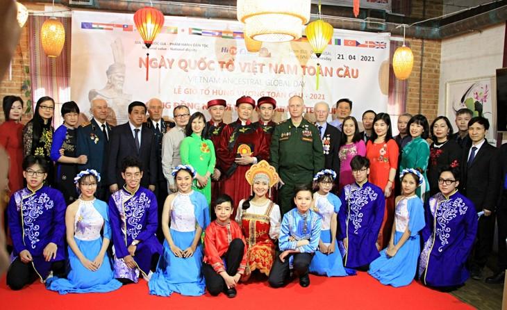 Gedenkfeier von Auslandsvietnamesen zum Todestag der Hung-Könige in Russland - ảnh 1