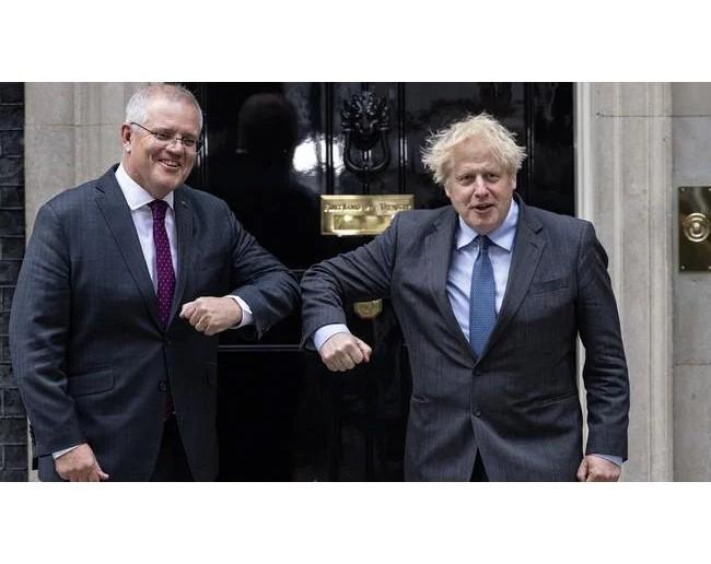 Australien und Großbritannien unterzeichnen Rahmenvereinbarung über Freihandelsabkommen - ảnh 1