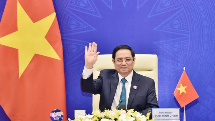 Premierminister Pham Minh Chinh nimmt an Online-Diskussion des UN-Sicherheitsrates teil - ảnh 1