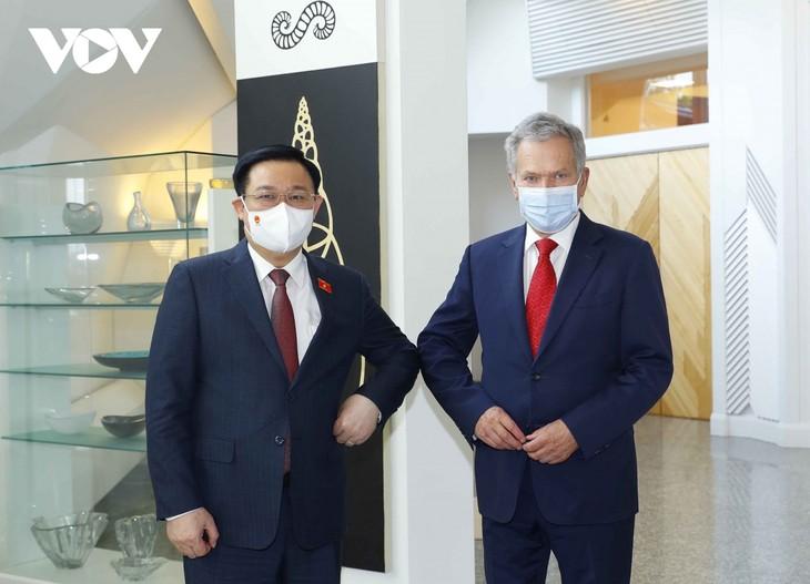 Parlamentspräsident Vuong Dinh Hue trifft Finnlands Präsident Sauli Niinisto - ảnh 1