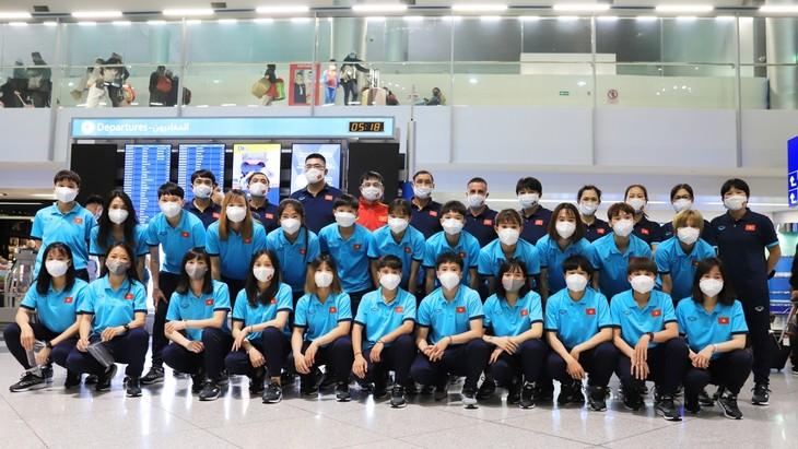 Die vietnamesische Fußballnationalmannschaft der Frauen nimmt an Qualifikationsrunde von Asian Cup 2022 teil - ảnh 1