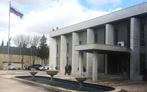 俄罗斯驻叙利亚大使馆遭袭 - ảnh 1