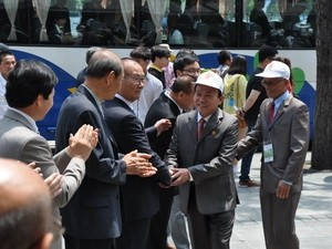 Vietnamesische Agent-Orange-Opfer beenden ihren Südkorea-Besuch - ảnh 1