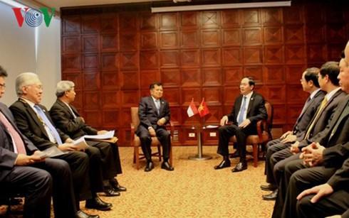 Staatspräsident Tran Dai Quang trifft Indonesiens Vizepräsident Jusuf Kalla - ảnh 1