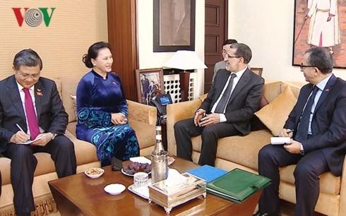 Parlamentspräsidentin Nguyen Thi Kim Ngan trifft Premierminister Marokkos Saadeddine Othmani - ảnh 1