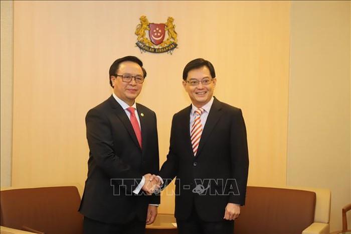 Delegation der KP Vietnams besucht Singapur - ảnh 1