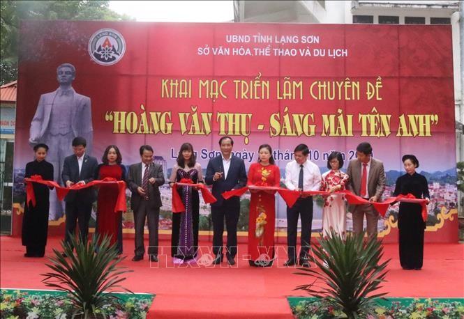 Ausstellung über Hoang Van Thu in Lang Son - ảnh 1