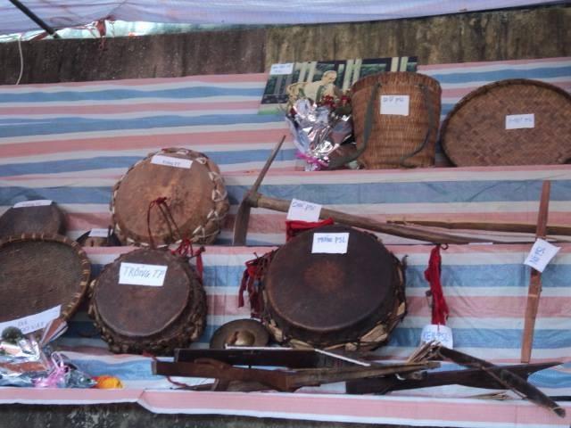 Das Set der traditionellen Musikinstrumente der Volksgruppe Dao Khau im Kreis Sin Ho - ảnh 1