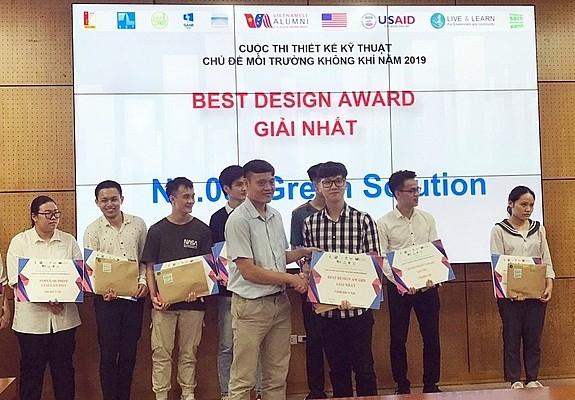 Green Solution gewinnt ersten Preis für Design zum Thema Luftumwelt 2019 - ảnh 1