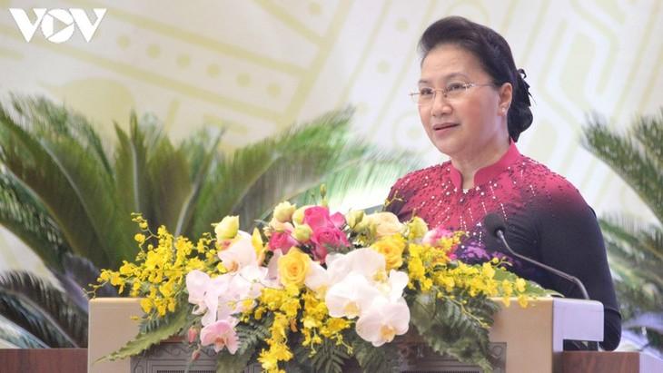 Parlamentspräsidentin Nguyen Thi Kim Ngan nimmt an Parteikonferenz des Parlamentsbüros teil - ảnh 1