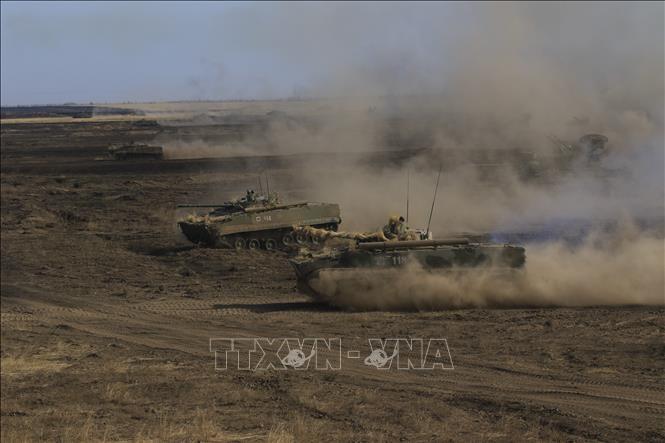 Russland stationiert Truppen an der Grenze zur Ukraine  - ảnh 1