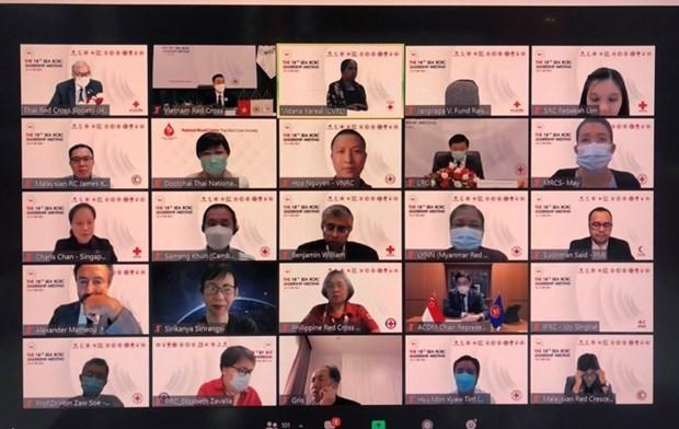 Online-Konferenz der Leiter des Roten Kreuzes und Roten Halbmondes in Südostasien eröffnet - ảnh 1