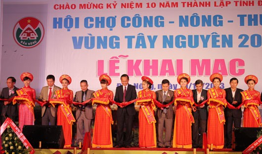 Pekan raya dan pameran industri-pertanian-perdagangan daerah Tay Nguyen 2013 - ảnh 1
