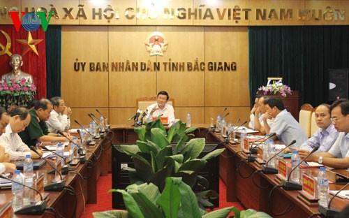 Presiden Vietnam, Truong Tan Sang melakukan kunjungan kerja di provinsi Bac Giang - ảnh 1
