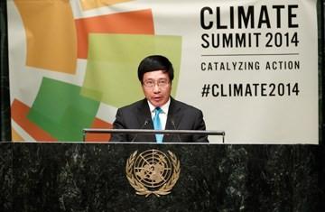 Deputi PM Vietnam, Pham Binh Minh menghadiri Konferensi Tingkat Tinggi PBB tentang iklim - ảnh 1