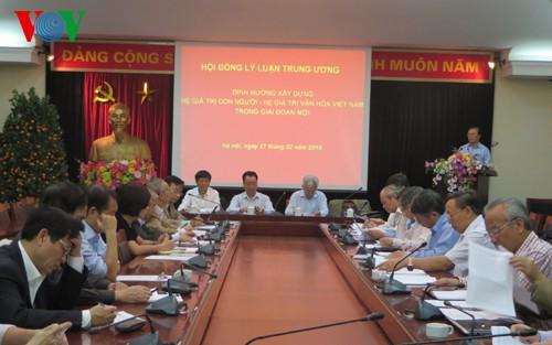Membina sistim nilai manusia-nilai kebudayaan Vietnam pada tahapan baru - ảnh 1