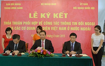 Melakukan koordinasi pekerjaan informasi luar negeri dari Kantor-kantor perwakilan Vietnam di luar negeri - ảnh 1
