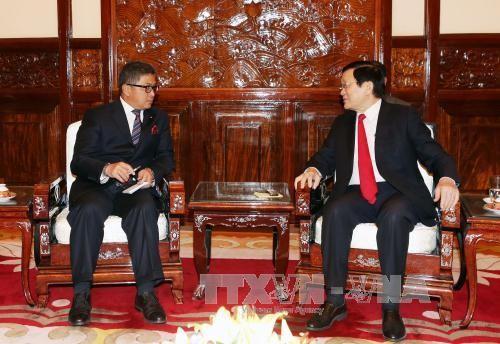 Presiden Vietnam, Truong Tan Sang menerima para Dubes sehubungan dengan akhir masa baktinya di Vietnam - ảnh 1