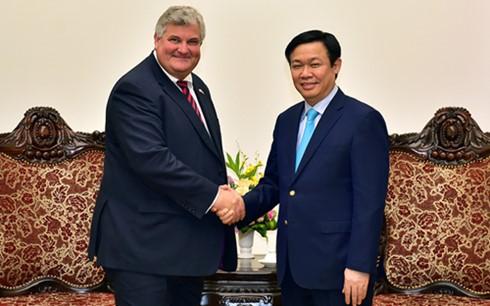Deputi PM Vuong Dinh Hue menerima Sekretaris Negara Kerajaan Inggeris, Baron Mark Ian Price  - ảnh 1