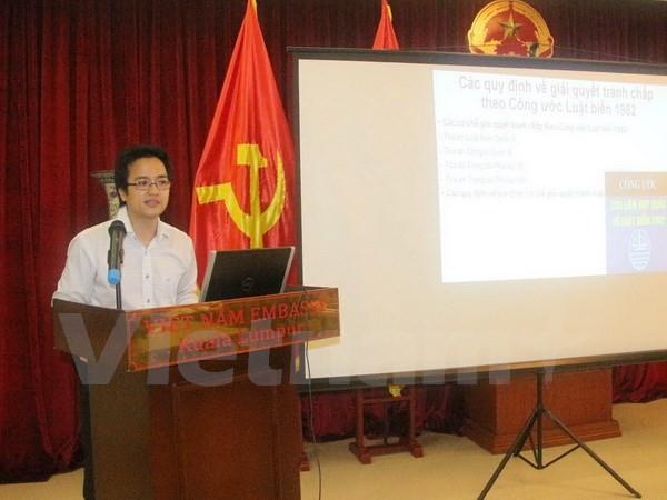 Kedutaan Besar Vietnam di Malaysia mengadakan ceramah tentang situasi Laut Timur - ảnh 1