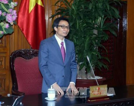 Deputi PM Vietnam, Vu Duc Dam menghadiri acara peresmian Pusat pembaruan dab kreativitas dari Grup Teknologi CMC - ảnh 1