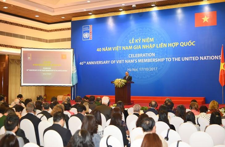 40 tahun Vietnam bangga menjadi anggota yang bertanggung jawab PBB - ảnh 1