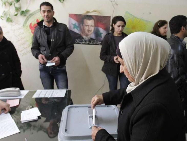 Suriah melakukan pemilihan di daerah untuk pertama kalinya sejak tahun 2011 - ảnh 1