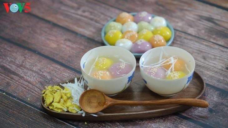 Kue Troi dan Kue Chay yang berwarna-warni pada Perayaan Hansik - ảnh 7