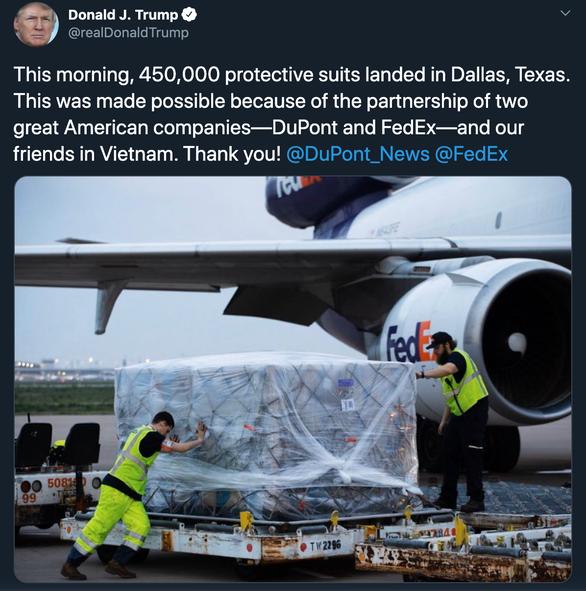 Presiden Donald Trump berterima kasih kepada Vietnam yang telah bekerjasama dengan AS untuk menghadapi wabah Covid-19 - ảnh 1