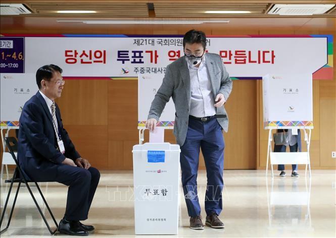 Republik Korea mulai melakukan pemungutan suara dini di dalam negeri untuk memilih Parlemen angkatan XXI - ảnh 1