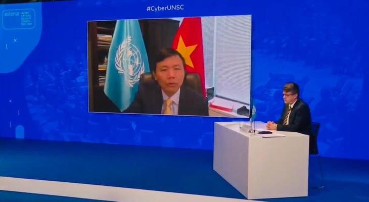 DK PBB membahas masalah menstabilkan ruang siber - ảnh 1