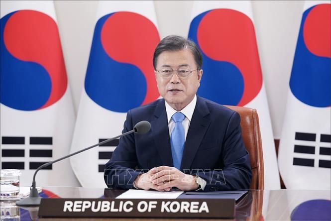 Presiden Republik Korea menekankan konsisten dengan target perdamaian di Semenanjung Korea. - ảnh 1