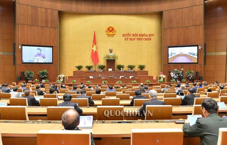 Persidangan ke-9, MN angkatan XIV mulai dilakukan dengan partisipasi dari semua anggotanya di Gedung MN - ảnh 1