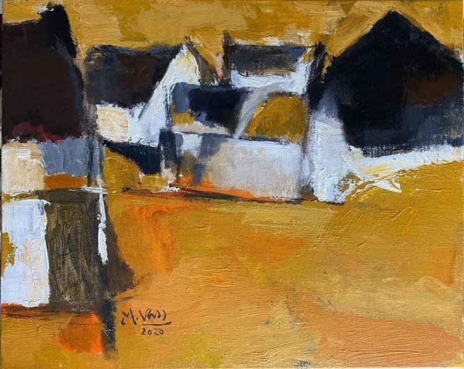 Pameran lukisan pelukis kontemporer Vietnam dalam musim isolasi - ảnh 14