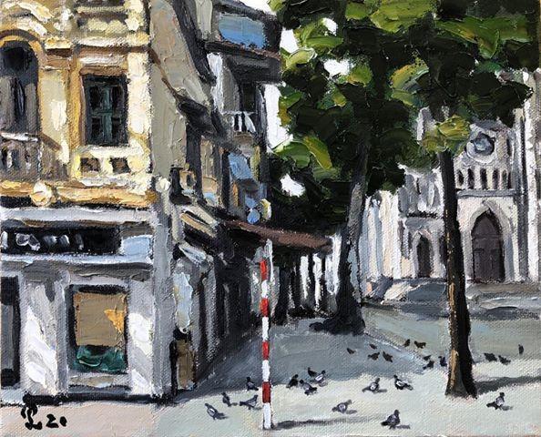 Pameran lukisan pelukis kontemporer Vietnam dalam musim isolasi - ảnh 15