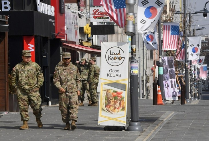 Kemhan AS mempertimbangan penyesuaian keberadaan militer di Republik Korea dan di dunia - ảnh 1