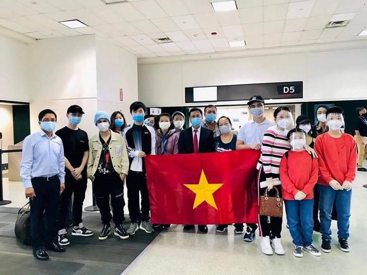 Memulangkan warga negara Vietnam dari AS dan Jepang ke Tanah Air - ảnh 1