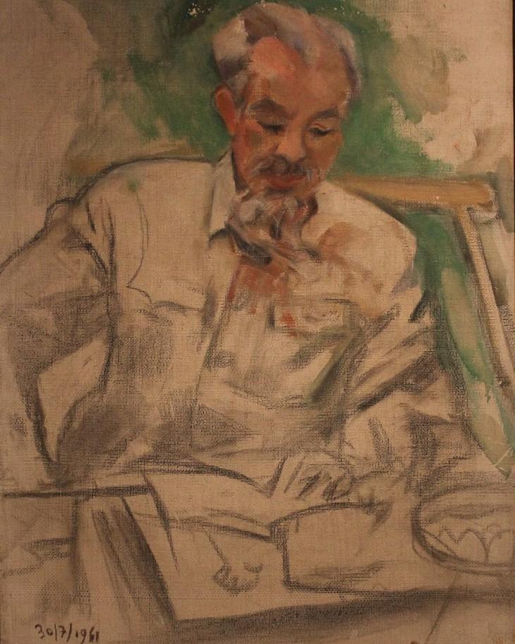 Lukisan-Lukisan yang Mengesankan tentang Presiden Ho Chi Minh - ảnh 1