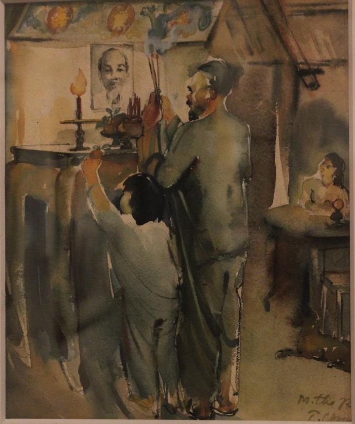 Lukisan-Lukisan yang Mengesankan tentang Presiden Ho Chi Minh - ảnh 3