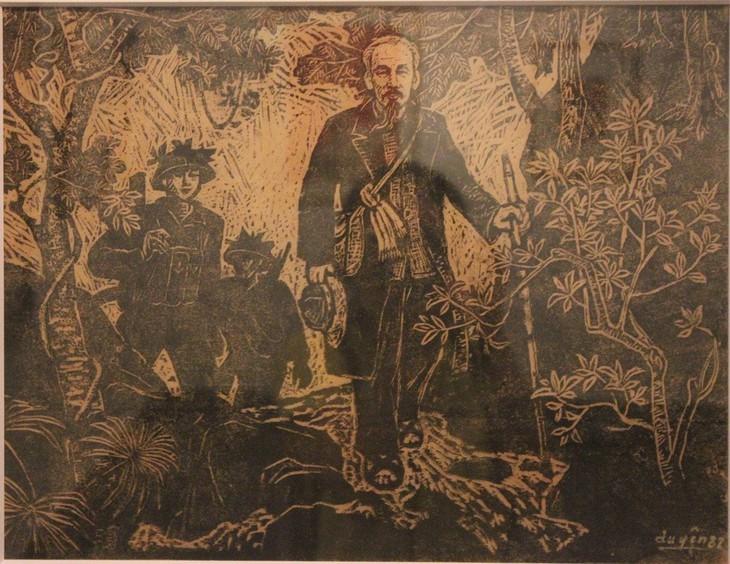 Lukisan-Lukisan yang Mengesankan tentang Presiden Ho Chi Minh - ảnh 4