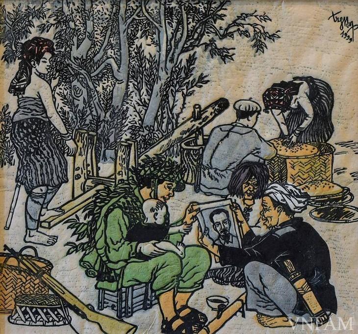 Lukisan-Lukisan yang Mengesankan tentang Presiden Ho Chi Minh - ảnh 7