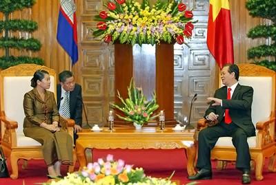 Нгуен Тан Зунг принял постоянного вице-премьера Камбоджи Мен Сам Ан - ảnh 1